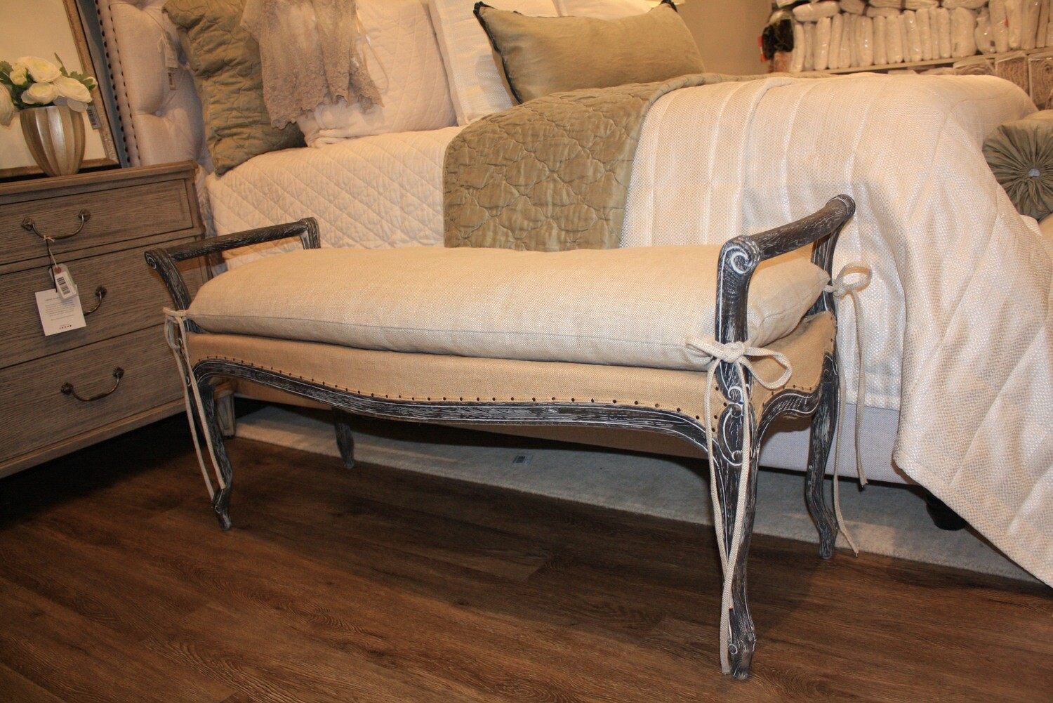 Dark Gray Bench