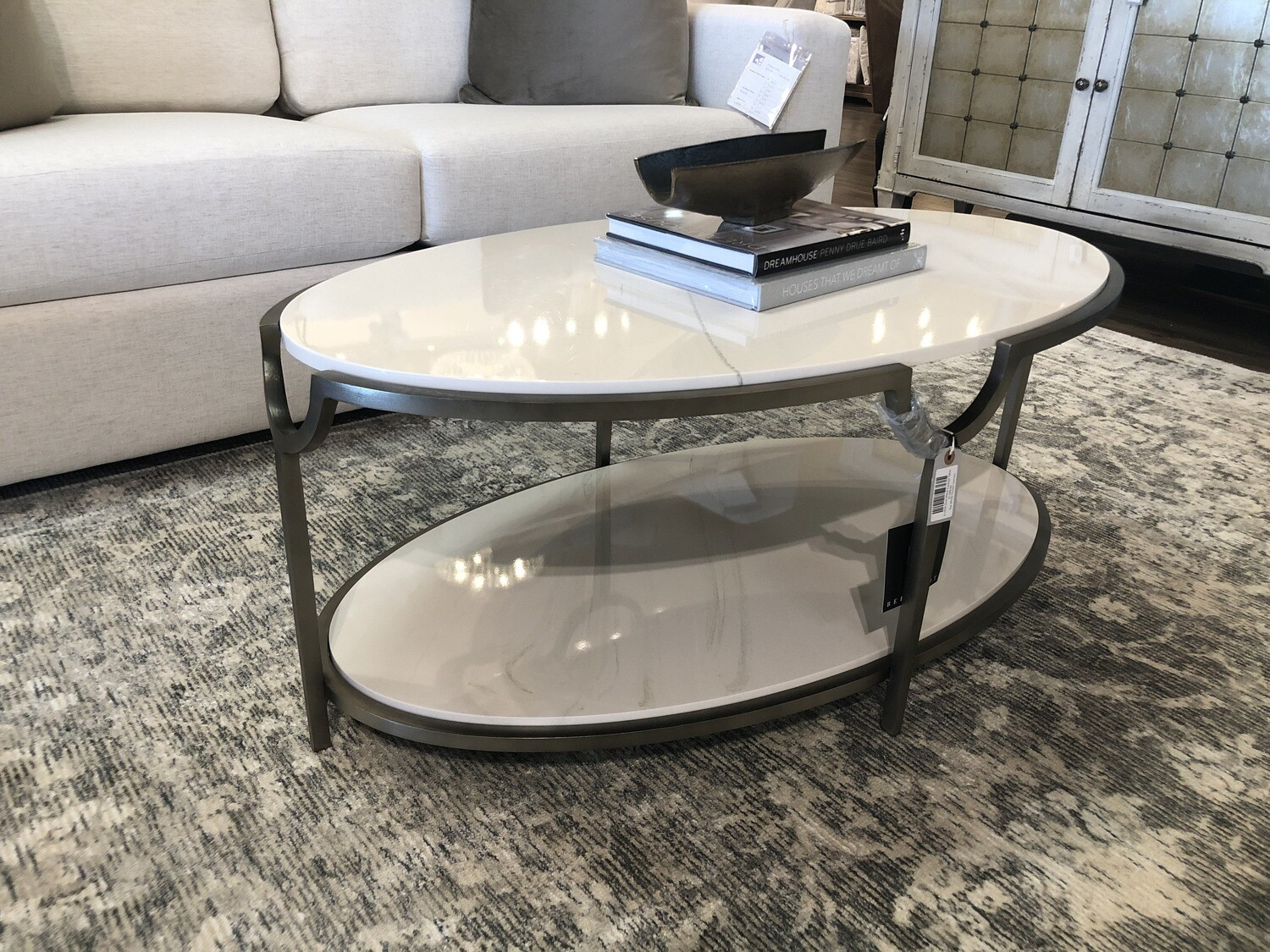 2-LR26 Oval Metal Cocktail Table