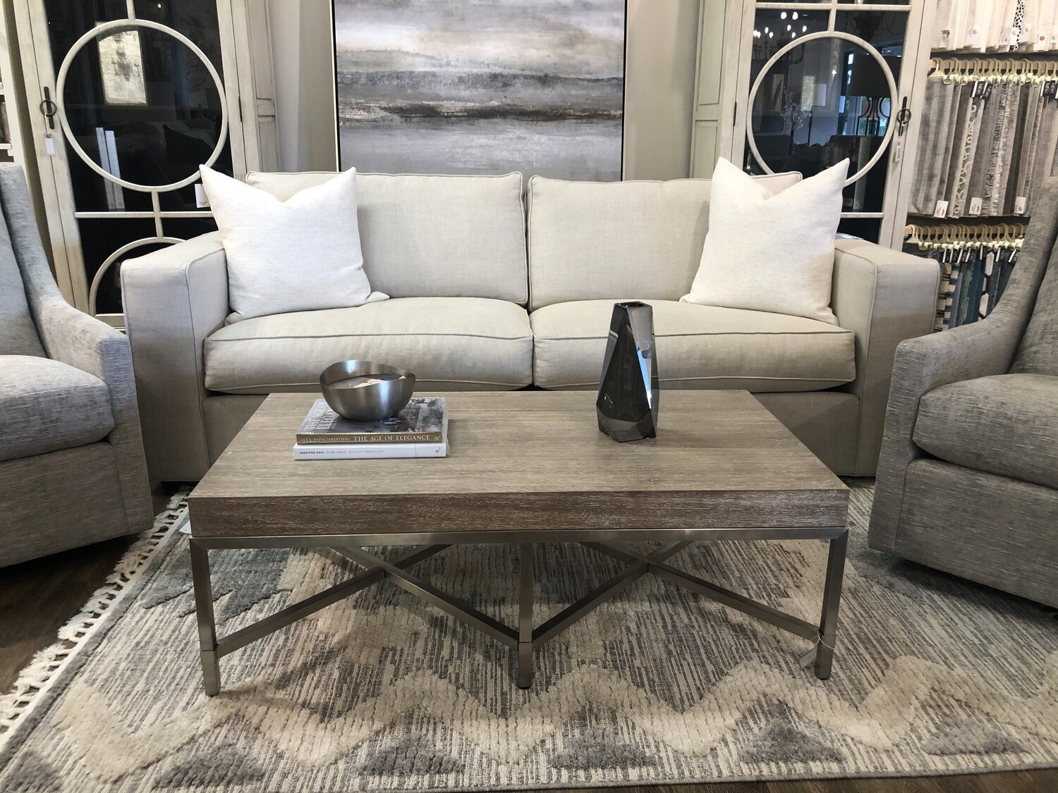2-LR72 ST18 Coffee Table in Natural Gray W50