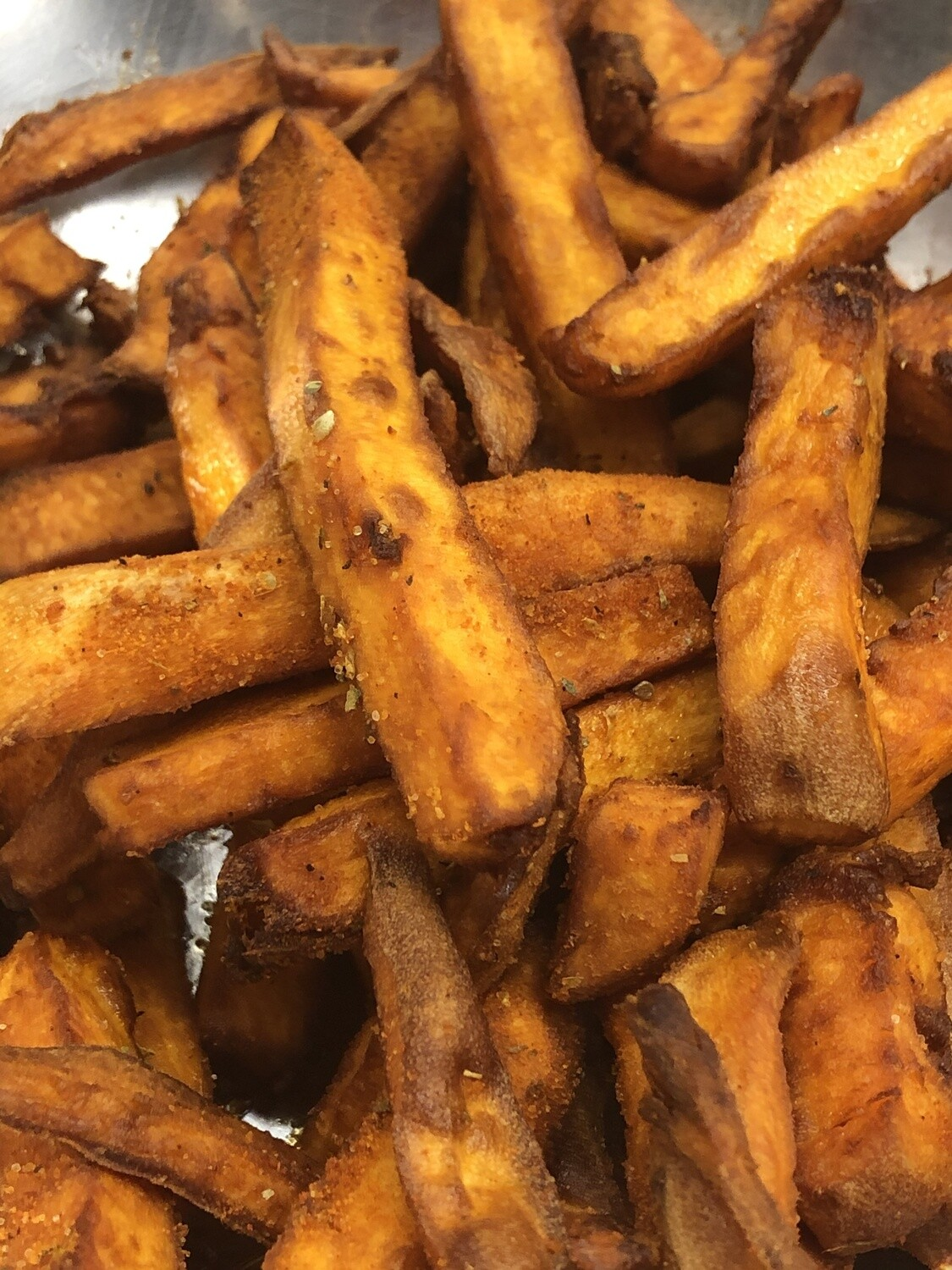 Sweet Potato Fries - fresh cut and peeled ourselves!