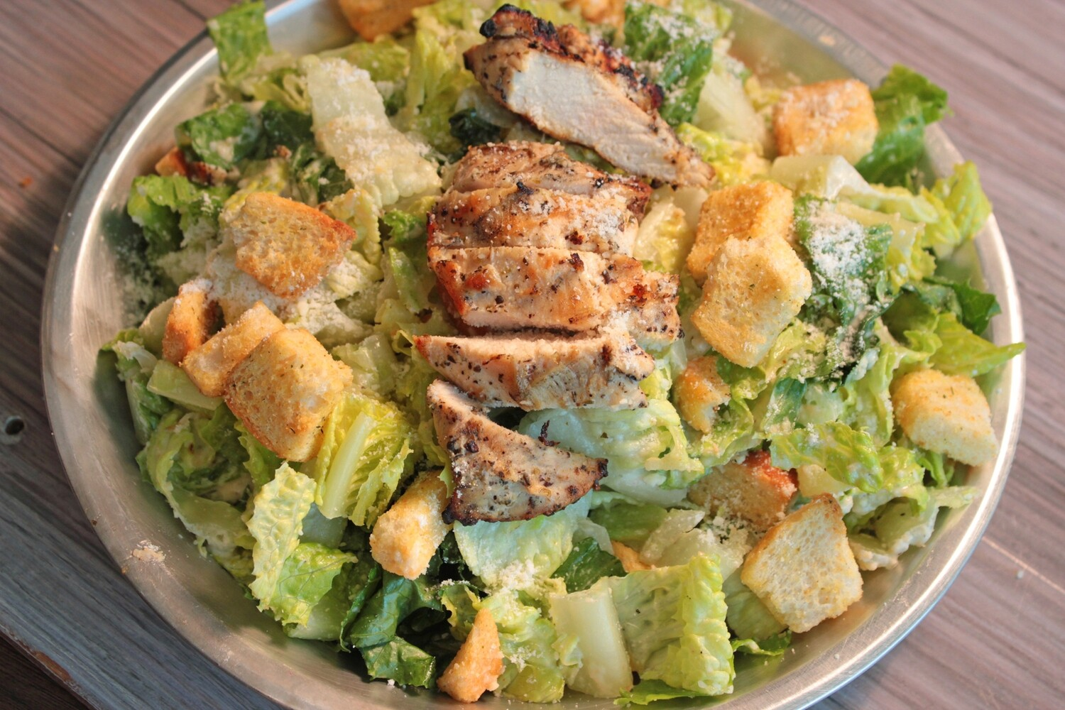Fresh Caesar Salad- Romaine lettuce, shaved Parmesan, croutons, and Caesar dressing (contains anchovies)