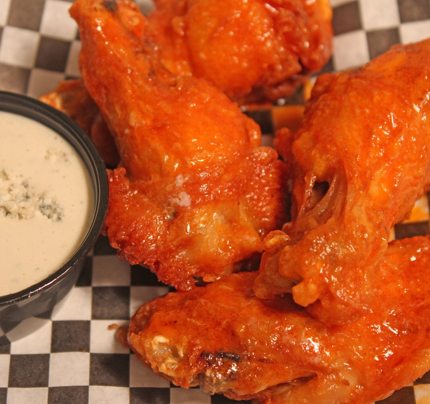 Chicken Wings (12) - side of blue cheese and choice of sauce