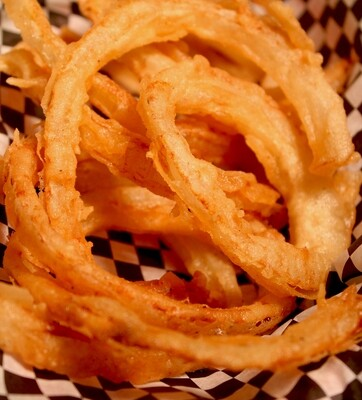 Onion Rings - hand cut and beer battered, served with chipotle aioli