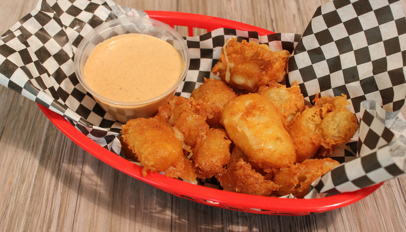 Fried Cheese Curd - beer battered and served with chipotle aioli