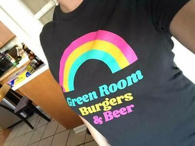 Green Room rainbow tee shirt