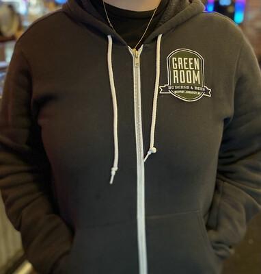 Green Room Zippered Hoodie