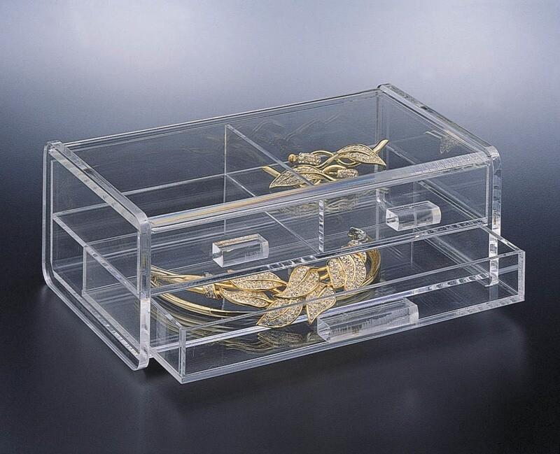 H Acrylic 2 Tier Jewelry Box