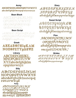 Embroidery Font Styles