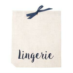 MSC White Linen Lingerie Bag