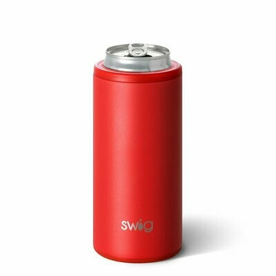 Skinny Can Cooler Red