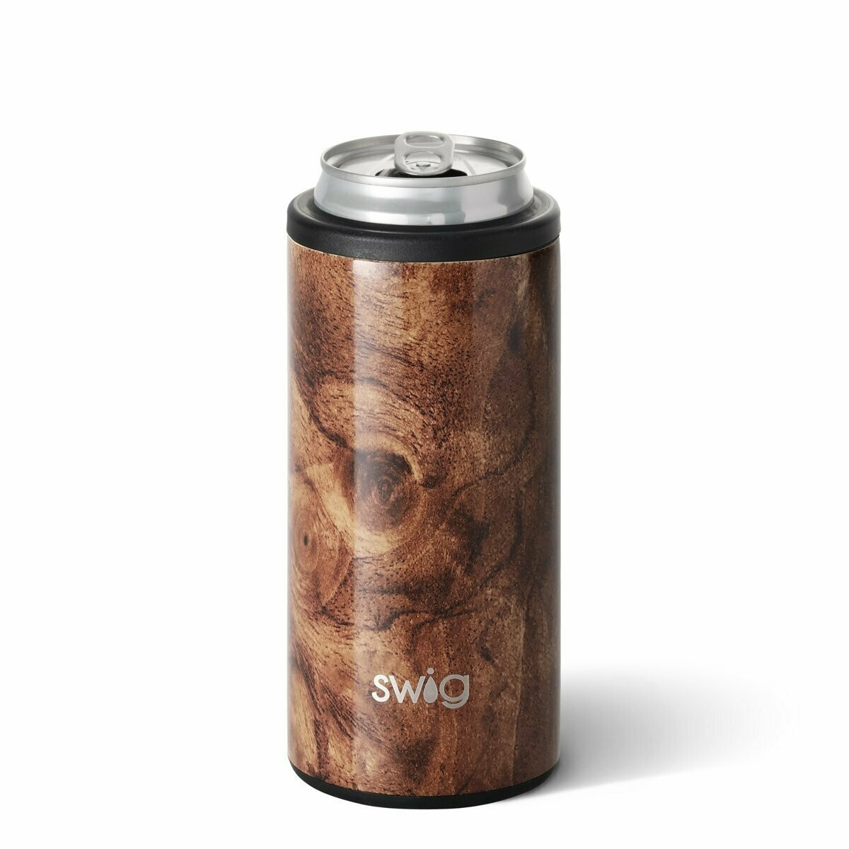 Stainless Skinny Can Wood