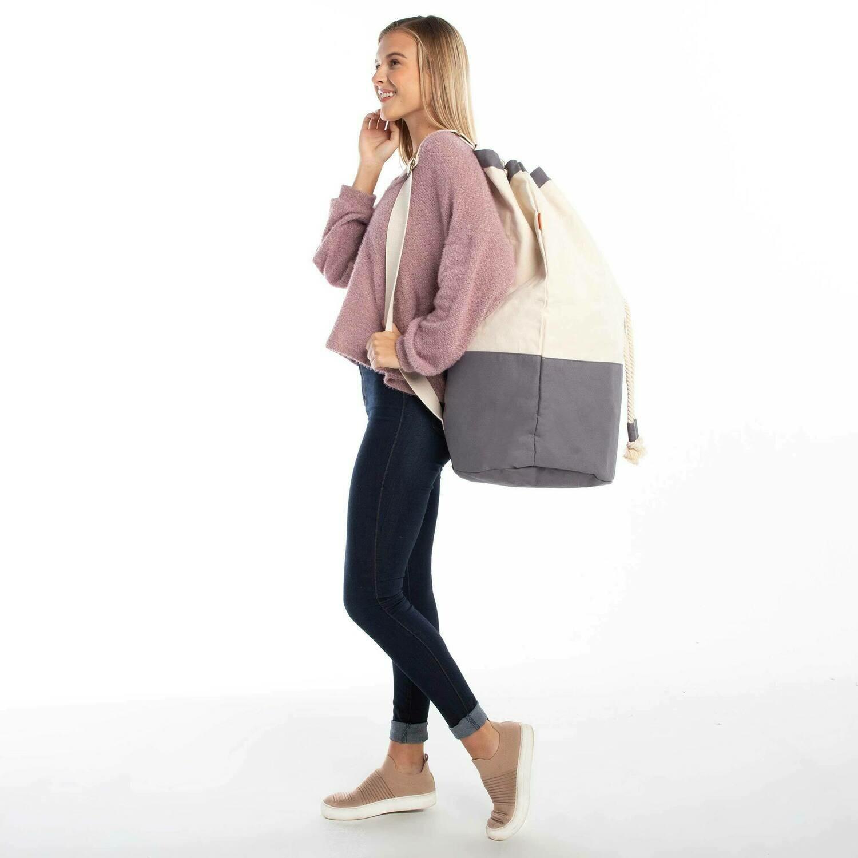 Canvas Laundry Bag-Gray