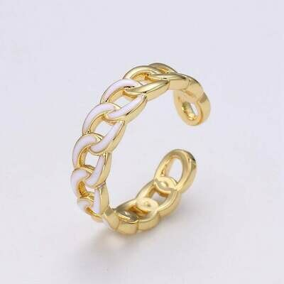 Aimvogue-enamel Chunky Chain Ring