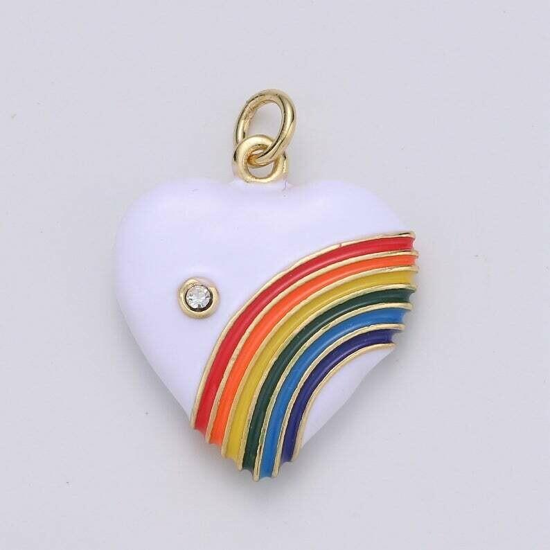 AimVogue-Rainbow Heart Charm