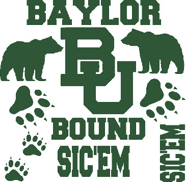 Baylor University Car Decals