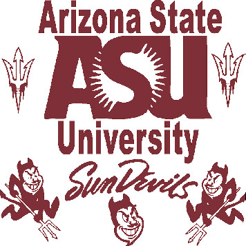 Arizona State Car Decals