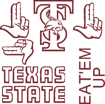 Texas State Car Decals