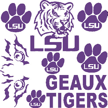 LSU Car Decals