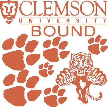 Clemson Car Decals