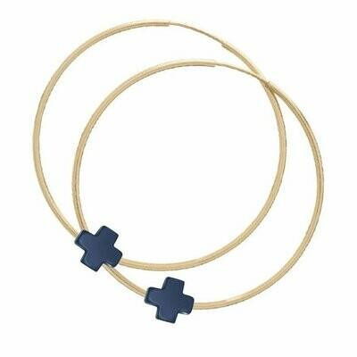 Endless Gold 1.75 Cross Earring