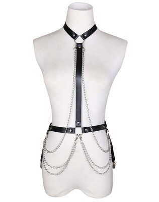 Gothic Body Chain Harness OS