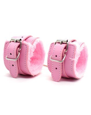 Fuzzy Wrist Cuffs Pink