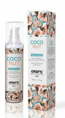 Exsens Warming Massage Oil CocoNut 1.7oz