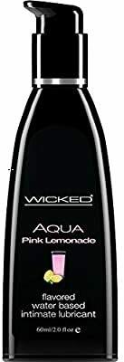 Wicked Aqua Pink Lemonade Flavored Water Based Lube 2oz