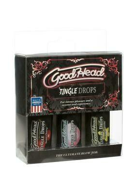 Goodhead Tingle Drops Sweet Cherry, Cotton Candy, French Vanilla