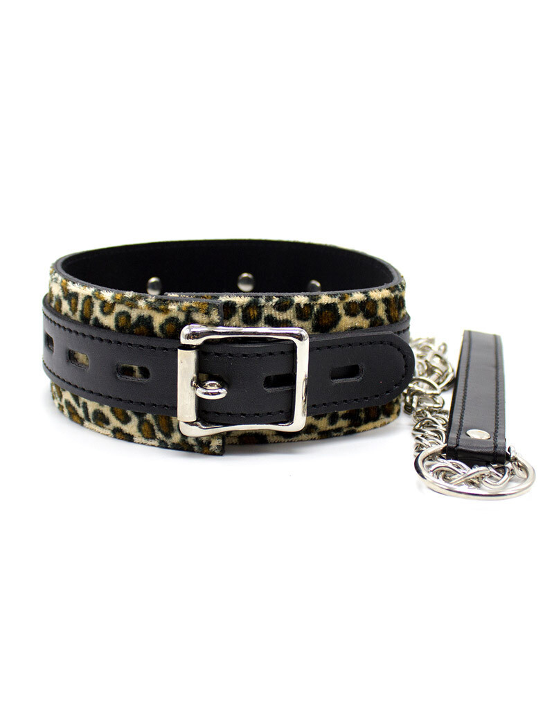 Leopard Collar & Leash Set