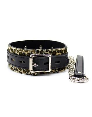 Leopard Collar & Leash Set
