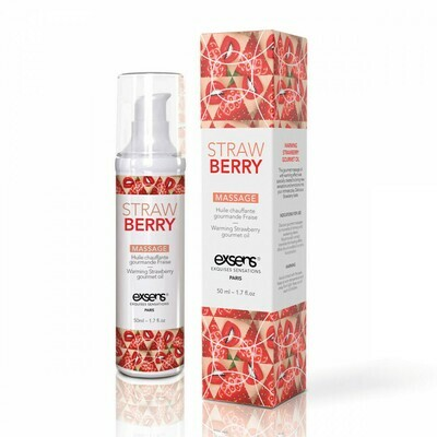 Exsens Warming Massage Oil Strawberry 1.7oz