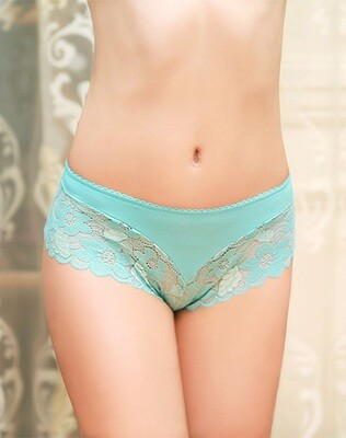 Rose Lace Panty Blue Small