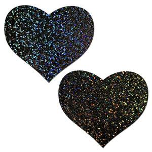 Pastease Glitter Black Heart Pasties