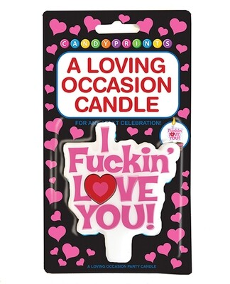 I F*cking Love You Candle