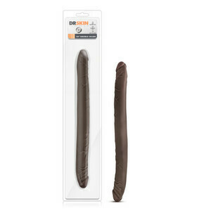 Dr. Skin 16in Double Dildo Chocolate