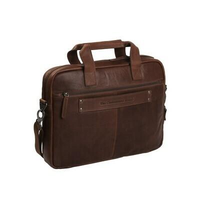The Chesterfield Brand Leren Laptoptas Bruin Calvi