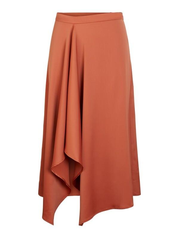 YAS Drape HW Midi Skirt