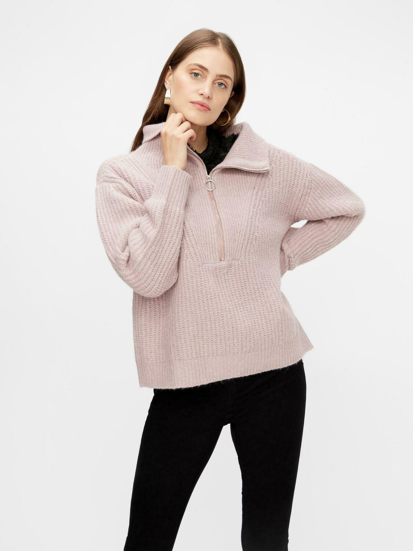 YAS Marilyn Zip Knit Pullover