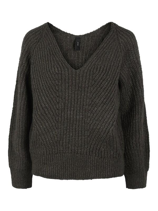 YAS Bravo V-Neck Knit Pullover