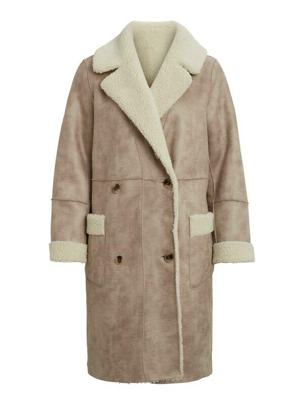 Vila VILIST 2in1 faux shearling coat