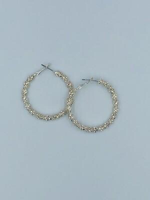 Oorbellen zilver ring 192463