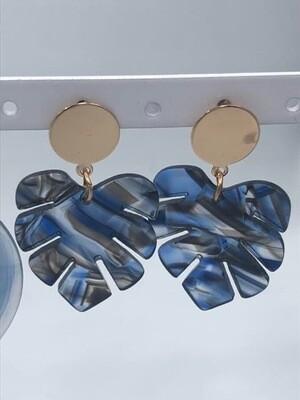Oorbellen blauw blaadje174167
