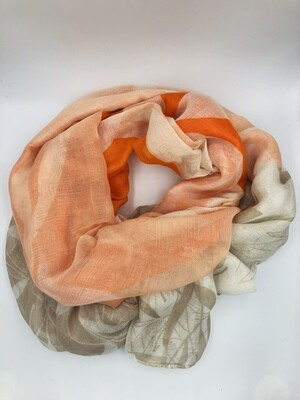 Sjaal oranje/beige/wit