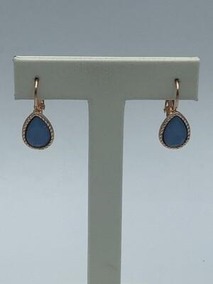 Oorbellen mini blauw 162497