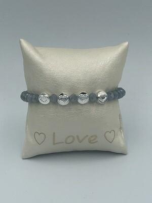 Armband  Lizas Grijs/zilver
