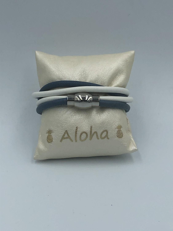 Armband Wit/Blauw
