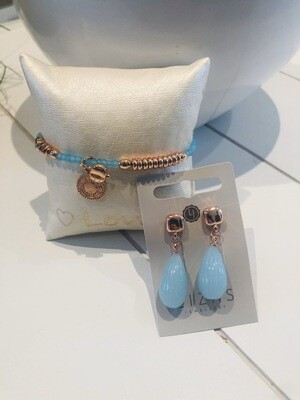 Set azuurblauw mini