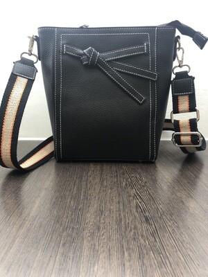 Zwart Leder Handtasje