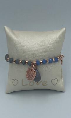 Armband Lizas donkerblauw/wit
